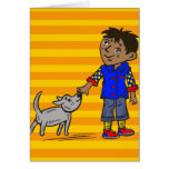 Boy And His Dog Stationery Note Card