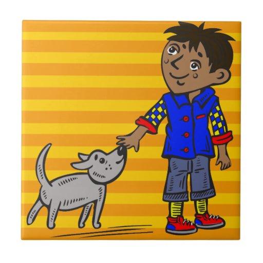 Boy And His Dog Tile