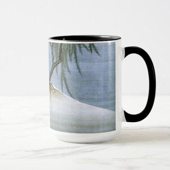 Boy and Mt.Fuji Hokusai Fine Art Mug