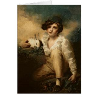 Boy and Rabbit, c.1814 Card