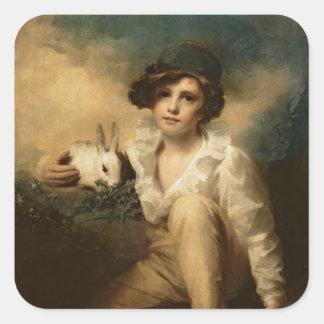 Boy and Rabbit, c.1814 Square Sticker