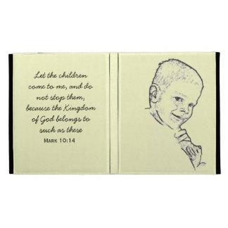 Boy and Teddy (Mark 10:14) iPad Folio Case