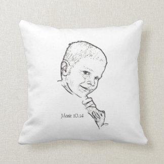 Boy and Teddy (Mark 10:14) Pillow