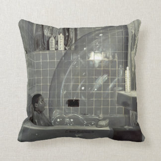 Boy and the Bubble 1990 Throw Pillow