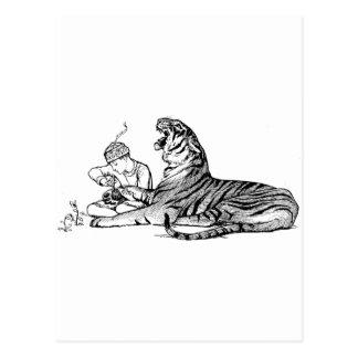Boy and Tiger Postcard
