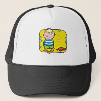 Boy And Toy Car Trucker Hat