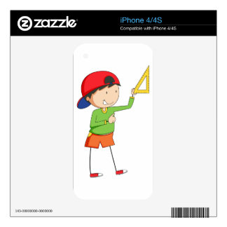 Boy and triangle iPhone 4S decal