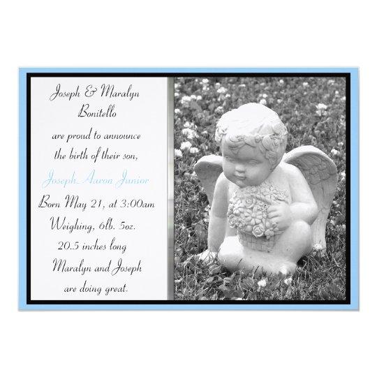 Boy Angel Custom Birth Announcement