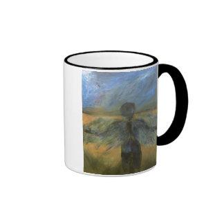 Boy Angel On Call Ringer Mug