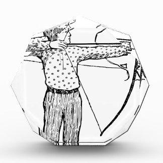 Boy Archer Illustration Acrylic Award