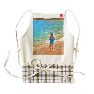 Boy at beach zazzle HEART apron