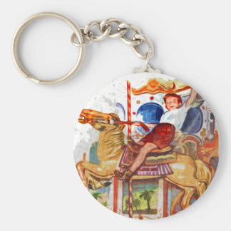 Boy at fair keychain
