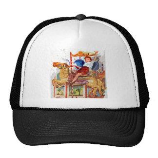 Boy at fair trucker hat
