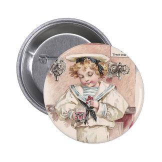 Boy at Soda Fountain Pinback Button