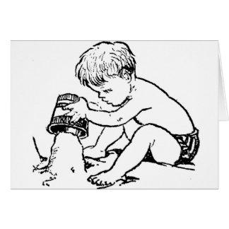 Boy at the Beach Greeting Card