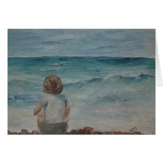 Boy at the Beach Card