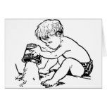 Boy at the Beach Greeting Cards