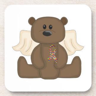 Boy Autism Awareness Bear Coaster