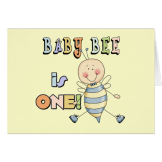 Boy Baby Bee 1st Birthday Tshirts and Gifts Cards