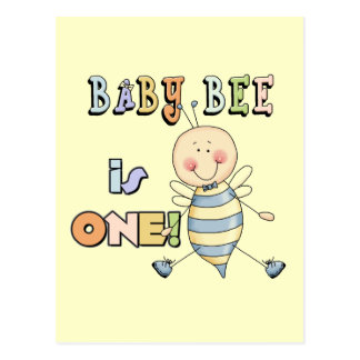 Boy Baby Bee 1st Birthday Tshirts and Gifts Post Cards