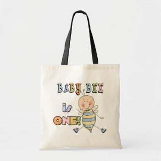 Boy Baby Bee 1st Birthday Tshirts and Gifts Tote Bag
