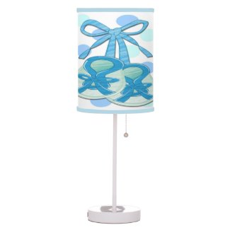 Boy Baby Booties Table Lamp