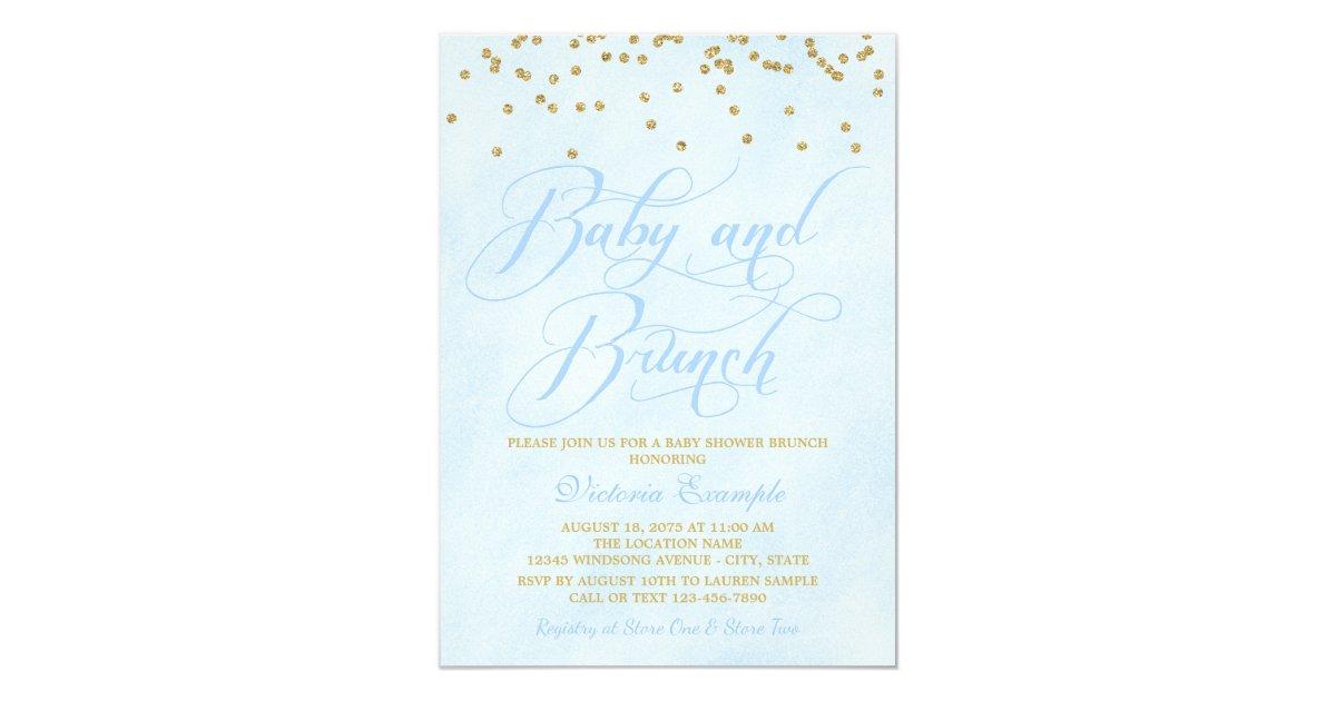Boy Baby Brunch Baby Shower Invitations | Zazzle.com