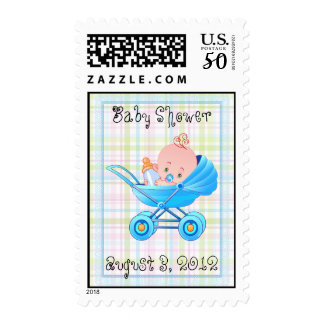Boy Baby Buggy Shower Postage