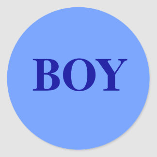Boy - Baby Gender Reveal Party Game Sticker