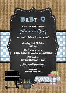 boy baby q baby shower bbq baby shower invitation