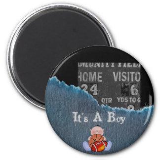 Boy-baby shower 2 inch round magnet