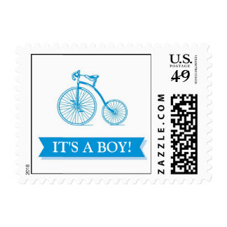Boy Baby Shower Blue Small Postages Postage