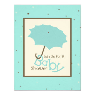 Boy Baby Shower - Blue Umbrella & Robin's Egg Card