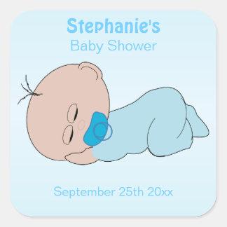 Boy Baby Shower Customized Square Sticker