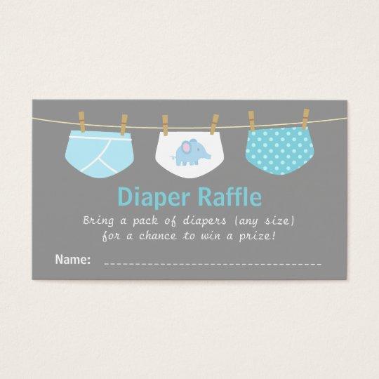 Boy Baby Shower, Cute Diaper Raffle Tickets