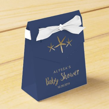 Beach Themed Boy Baby Shower Favor Box - Beach, Ocean, Starfish