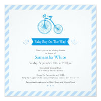 Boy Baby Shower Flat Announcement Card