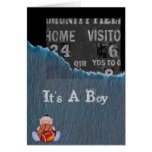 Boy-baby shower greeting card