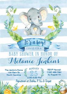 Elephant baby shower invitations zazzle boy baby shower invitation elephant baby shower card filmwisefo Gallery