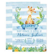 Boy Baby Shower Invitation, Giraffe Baby Shower Invitation