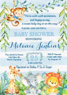 Jungle baby shower invitations zazzle boy baby shower invitation jungle baby shower invitation filmwisefo