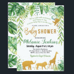 "Boy Baby Shower Invitation, Jungle Baby Shower Invitation<br><div class=""desc"">Baby boy elephant tropical,  jungle baby shower invitation.</div>"