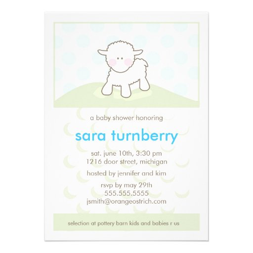 Personalized little lamb baby shower invitations boy baby shower invitation little lamb filmwisefo