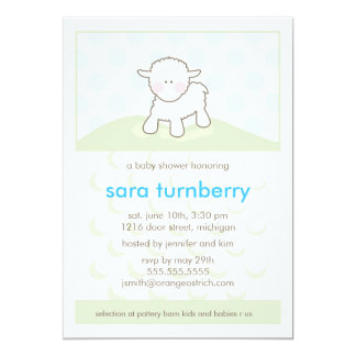 Boy Baby Shower Invitation - Little Lamb
