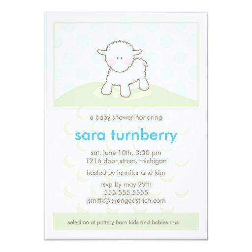 boy baby shower invitation little lamb zazzle