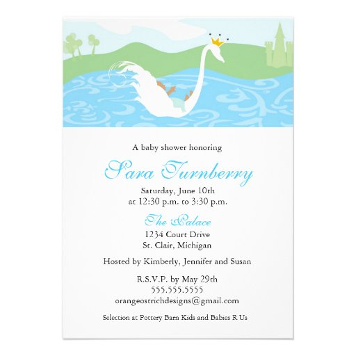 boy baby shower invitation little prince 5 x 7 invitation card
