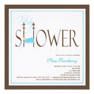 Boy Baby Shower Invitation - Sleeping Baby
