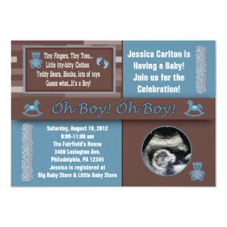 "Boy Baby Shower Invitations 5"" X 7"" Invitation Card"