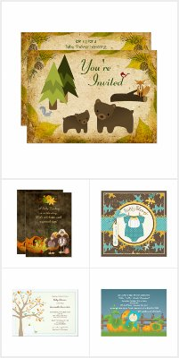 Boy Baby Shower Invitations for Fall