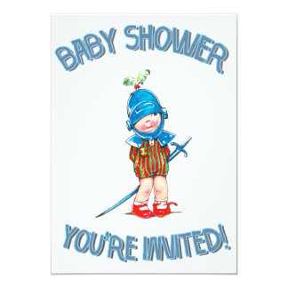 Boy Baby Shower, Little Kid In Soldier Cothing Card
